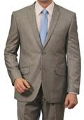 Mens 2 Button Front Closure Slim Fit Suit Light Grey $139