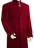 Mens Red 3 Piece Fashion Zoot Suit