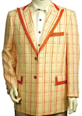 Mens Stylish 2 Button Zoot Suit Yellow $189