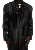 Mens Fashionable Black Pinstripe Zoot Suit $175