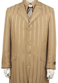 SKU#XH5183 Mens Shadow Ton on Ton Fashion Zoot Suit in Taupe