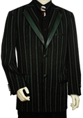 SKU#UE7005 Mens Stylish Black Olive Green Fashion Unique Tuxedo $250