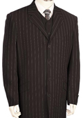 Men's Black Pinstripe Long Zoot Suit $189