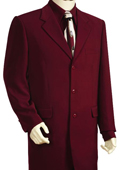 Men's 3 Button Fashionable Zoot Suit Wine $189