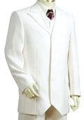 SKU#GY9810 Men's Offwhite 1 Button Vested Zoot Suit $250