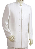 SKU#FG7721 Men's Fashionable 5 Button Offwhite Zoot Suit $250