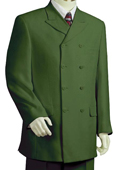 Stylish Olive Zoot Suit