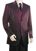 Men's Fashionable 3 Piece Vested Wine Zoot Suit $1895