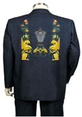 Fashionable Navy Back Zoot