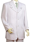 White pinstripe suit
