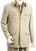 SKU#TU9024 Men's High Fashion Taupe Zoot Suit