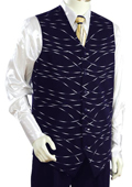 Stylish Navy Vest Zoot