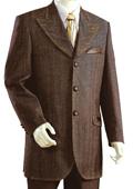 SKU#FL8920 Men's Fashionable 3 Button Zoot Denim Fabric Suit