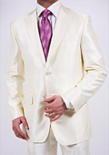 White Slim fit suit