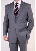Men's Grey Two-button Peak Lapel Suit $139