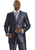 Black Wool 2-button Suit