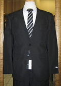 Cheap quality men's 2 Button Black Discounted affordable clearance sale Cheap Suit Black $79