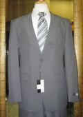 Men's 2 Button Grey Discounted affordable clearance sale Poly Cheap Suit $79