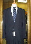 Men's 2 Button Navy Discounted affordable clearance sale Cheap Suit $120