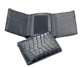 Mens Crocodile Trifold Wallet