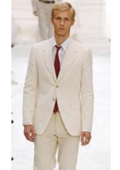 Men's Suit 2-Button Ivory Off White Jacket and Pants $169