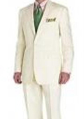 SKU#VF6298 Men's Suit Ivory 2-Button Style Perfect For Wedding Jacket and Pants