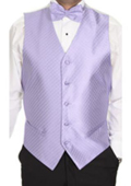 Men's Lavender Patterned 4-piece Vest Set $49