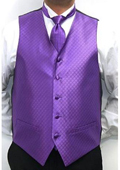 Men's Four-piece Vest Set Purple $49