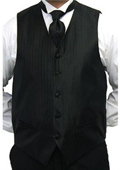 Black Four-piece Vest Set