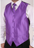 Men's Purple 2-piece Vest Set $49