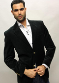 SKU#DG5201 Mirage Color Black Sport Coat It's One Of A Kind Super 150'S For All Occasion $89