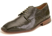 Men's Olive Genuine Lizard