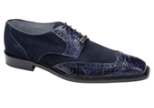 Men's Navy Genuine Crocodile