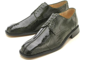 Men's Olive Genuine Ostrich