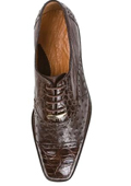 Men's Brown Genuine Ostrich