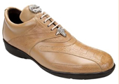 Men's Taupe Genuine Ostrich