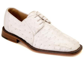Men's White Genuine Ostrich