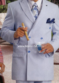 Men's Fashion Seersucker Suit Blue $175