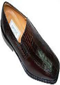 Brown Genuine Alligator Shoes