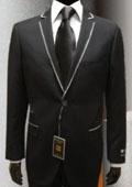 tuxedo suits Black Gianni