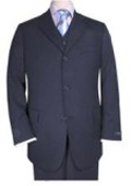 Men's 3 piece premier quality italian fabric fabric Navy Vested Super 120's Mens 3 Piece three piece suit $175