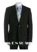 UMO Simple & Classy Solid Black Super 150's Wool 2 Button Style Back Side Vented $195