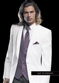 SKU#EN1976 Jean Yves Twilight White Tuxedo $256