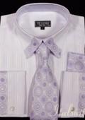 Lavender Shirt Tie and Hankie Set $65