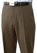 SKU#JUD611 Mantoni~Bertolini Umo Flat Front Pant 100% Superfine Wool Pre-Hemmed $85