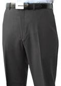 SKU#GFJ312 Mantoni~Bertolini Umo Flat Front Pant 100% Superfine Wool Pre-Hemmed $85