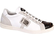 White Nappa Leather/Ostrich Leg/Nubuck