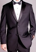 SKU#RA7788 Men's 2-button Black Tuxedo $149