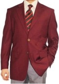 2 Button Burgundy ~