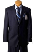 Mens 2 Button Navy Pinstripe Slim Fit Designer Suit Navy $299